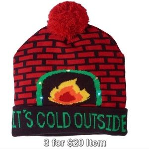 It's Cold Outside Light-Up Knit Beanie